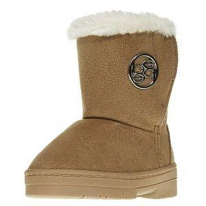 BEBE GIRLS - fur trim winter boots